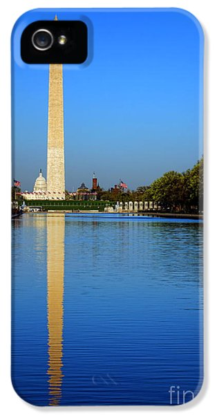 Washington Monument iPhone 5 Case - Classic Washington by Olivier Le Queinec