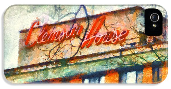 Clemson iPhone 5 Case - Clemson House by Lynne Jenkins
