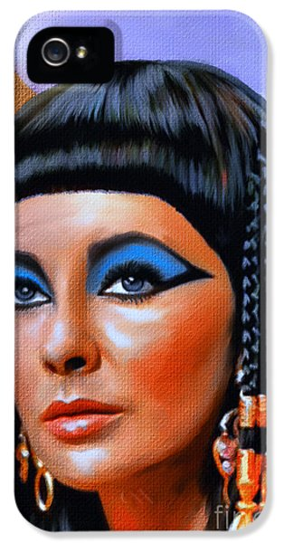 Cleopatra  IPhone 5 Case by Andrzej Szczerski