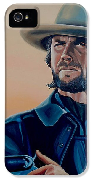 Clint Eastwood Painting IPhone 5 Case by Paul Meijering