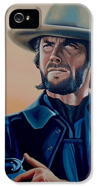Eagle iPhone 5 Case - Clint Eastwood Painting by Paul Meijering