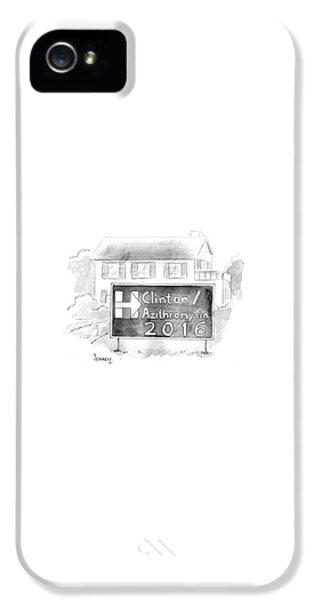 Hillary Clinton iPhone 5 Case - Clinton/azithromycin by Benjamin Schwartz