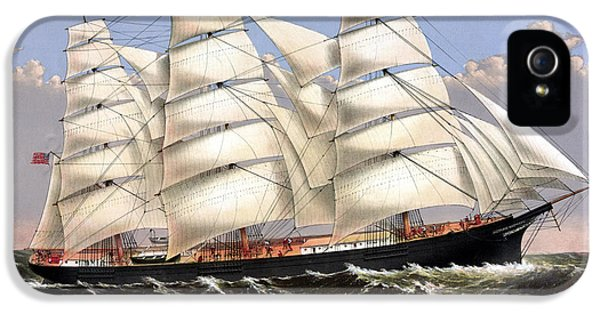 Clipper Ship Three Brothers IPhone 5 Case by War Is Hell Store