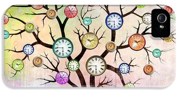 Clock Tree  IPhone 5 Case by Mark Ashkenazi