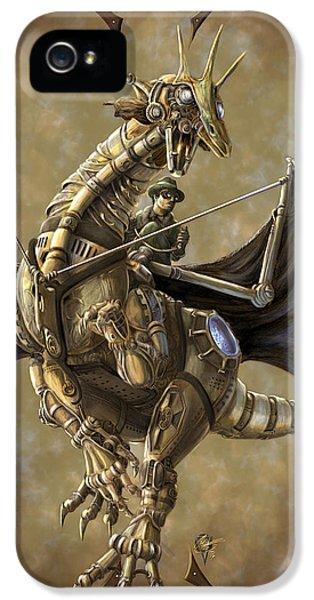Dragon iPhone 5 Case - Clockwork Dragon by Rob Carlos