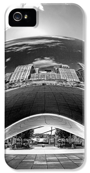 Cloud Gate Under The Bean Black And White IPhone 5 Case by Christopher Arndt