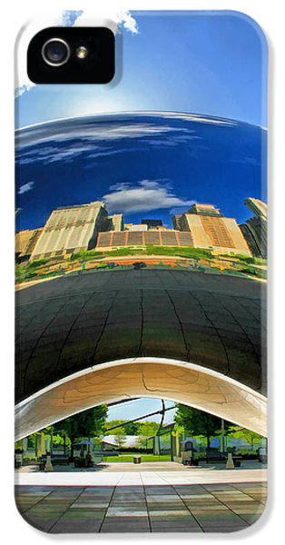 Cloud Gate Under The Bean IPhone 5 Case by Christopher Arndt