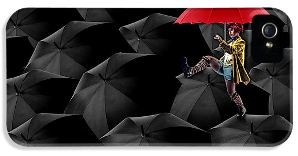 Clowning On Umbrellas 02 -a13 IPhone 5 Case