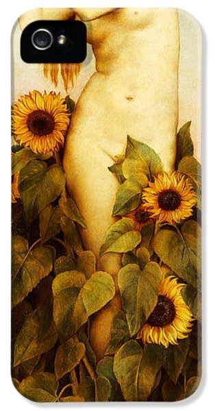 Clytie IPhone 5 Case by Evelyn De Morgan