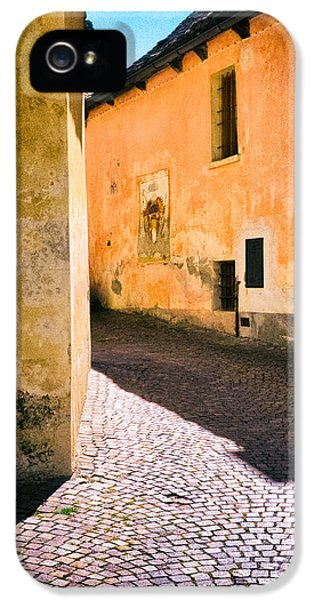 IPhone 5 Case featuring the photograph Cobbled Street by Silvia Ganora