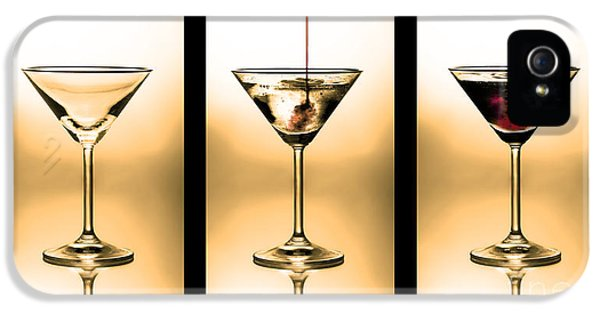 Cocktail Triptych In Gold IPhone 5 Case by Jane Rix