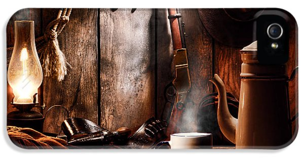 Coffee At The Cabin IPhone 5 Case by Olivier Le Queinec