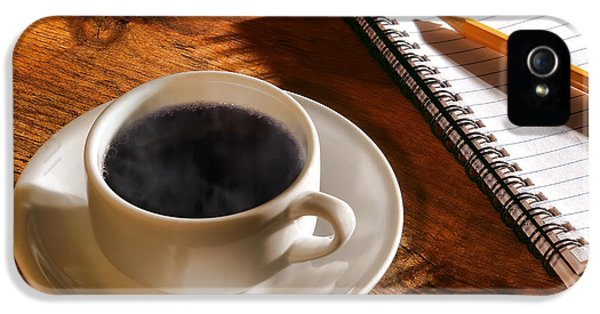 Coffee For The Writer IPhone 5 Case by Olivier Le Queinec