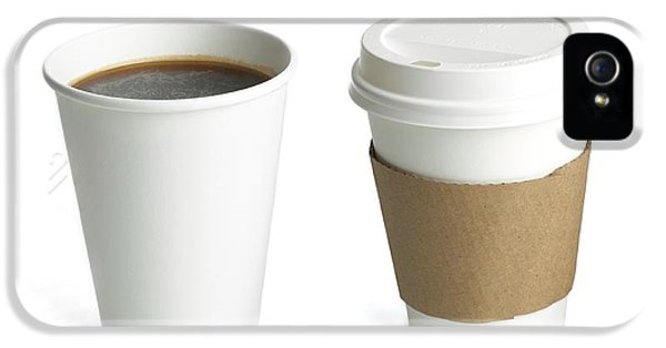 Coffee In Polystyrene And Paper Cups IPhone 5 Case