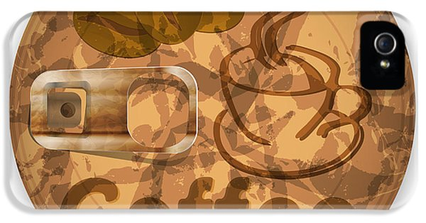 Damage iPhone 5 Case - Coffee Lid Isolated On White Background by Berkut