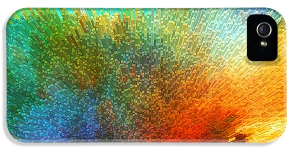 Color Infinity - Abstract Art By Sharon Cummings IPhone 5 Case