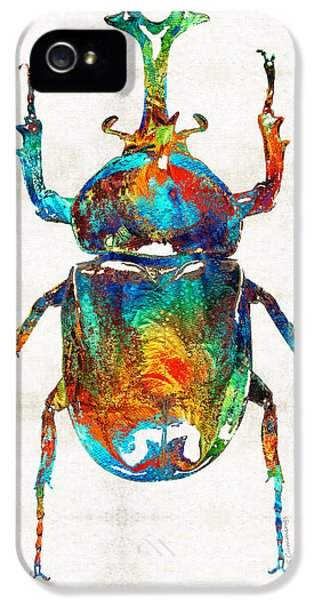Colorful Beetle Art - Scarab Beauty - By Sharon Cummings IPhone 5 Case
