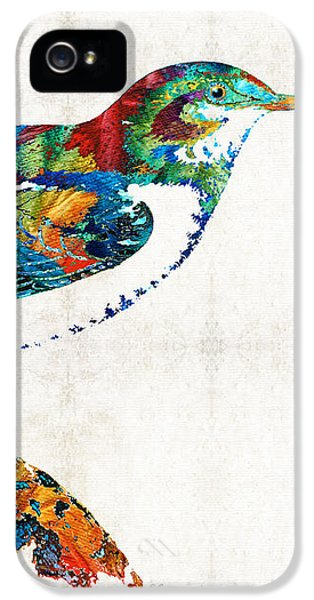 Canary iPhone 5 Case - Colorful Bird Art - Sweet Song - By Sharon Cummings by Sharon Cummings