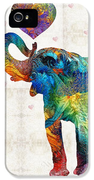 Colorful Elephant Art - Elovephant - By Sharon Cummings IPhone 5 Case