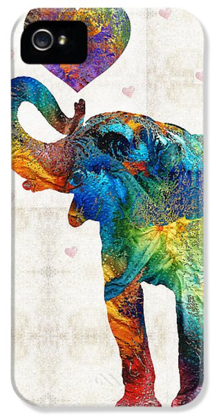 Colorful Elephant Art - Elovephant - By Sharon Cummings IPhone 5 Case by Sharon Cummings