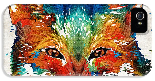 Colorful Fox Art - Foxi - By Sharon Cummings IPhone 5 Case