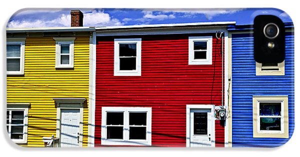 Colorful Houses In St. John's Newfoundland IPhone 5 Case by Elena Elisseeva