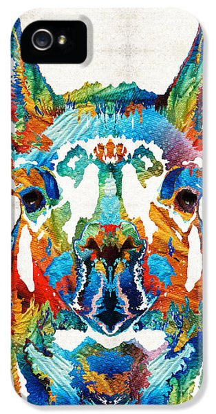 Colorful Llama Art - The Prince - By Sharon Cummings IPhone 5 / 5s Case by Sharon Cummings