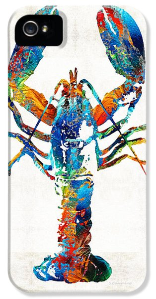 Colorful Lobster Art By Sharon Cummings IPhone 5 Case