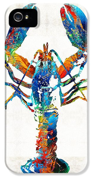 Colorful Lobster Art By Sharon Cummings IPhone 5 Case by Sharon Cummings