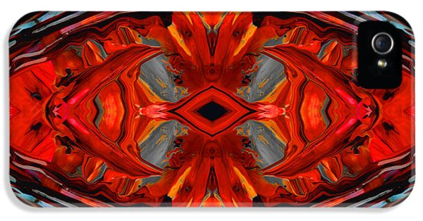 Colorful Modern Art - Desire's Call - By Sharon Cummings IPhone 5 Case by Sharon Cummings