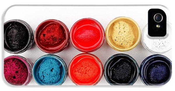 Colorful iPhone 5 Case - Colorful Paint Pots by Matthias Hauser