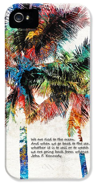 Colorful Palm Trees - Returning Home - By Sharon Cummings IPhone 5 Case
