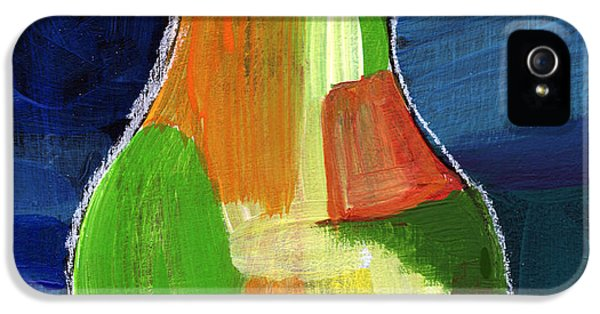 Pear iPhone 5 Case - Colorful Pear- Abstract Painting by Linda Woods