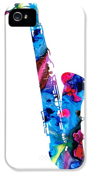 Colorful Saxophone 2 By Sharon Cummings IPhone 5 / 5s Case by Sharon Cummings