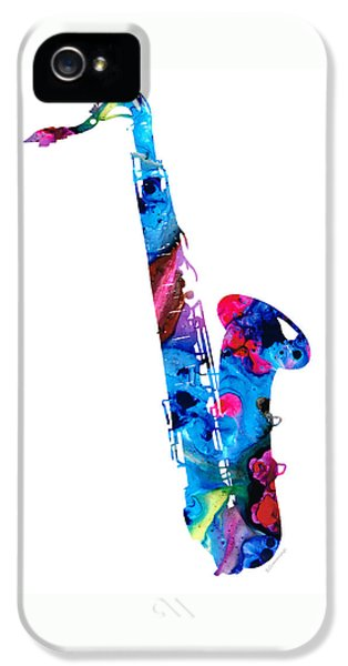 Colorful Saxophone 2 By Sharon Cummings IPhone 5 Case