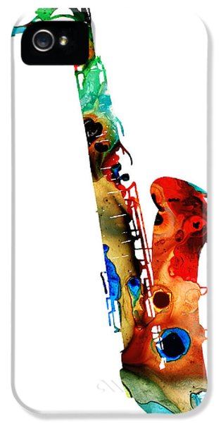 Colorful Saxophone By Sharon Cummings IPhone 5 / 5s Case by Sharon Cummings