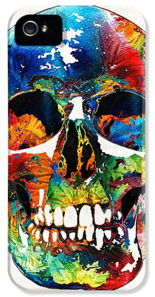 Colorful Skull Art - Aye Candy - By Sharon Cummings IPhone 5 Case