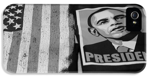 Commercialization Of The President Of The United States In Balck And White IPhone 5 Case by Rob Hans