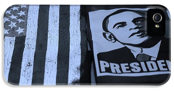 Commercialization Of The President Of The United States In Cyan IPhone 5 Case by Rob Hans