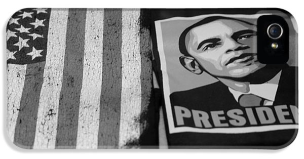 Commercialization Of The President Of The United States Of America In Black And White IPhone 5 Case by Rob Hans