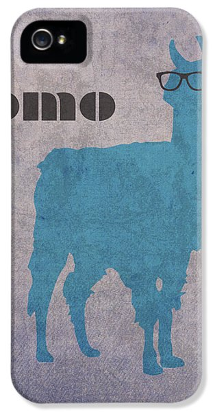 Llama iPhone 5 Case - Como Te Llamas Humor Pun Poster Art by Design Turnpike