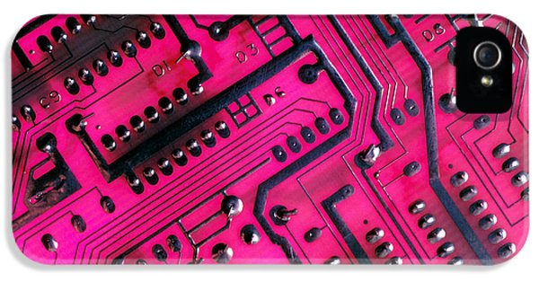 Computer Circuit Board IPhone 5 Case by Anonymous