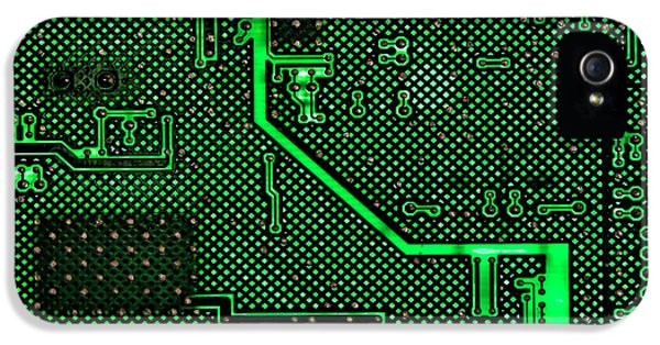 Computer Circuit Board IPhone 5 Case by Olivier Le Queinec