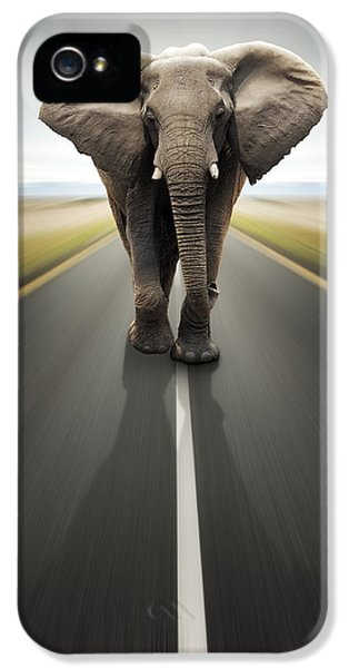 Heavy Duty Transport / Travel By Road IPhone 5 Case by Johan Swanepoel