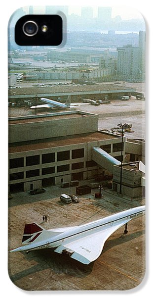 Concorde At An Airport IPhone 5 Case by Us National Archives