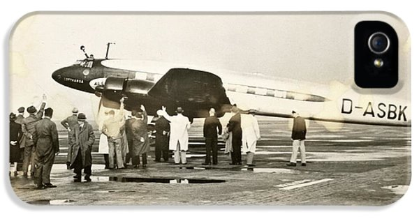 Condor Aircraft Before Take-off IPhone 5 Case by Eye On The Reich: German Propaganda Photographs/new York Public Library