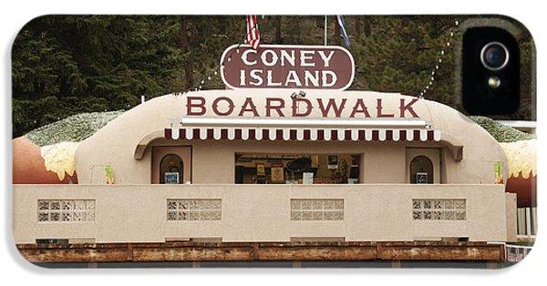 Coney Island Boardwalk IPhone 5 Case by Juli Scalzi