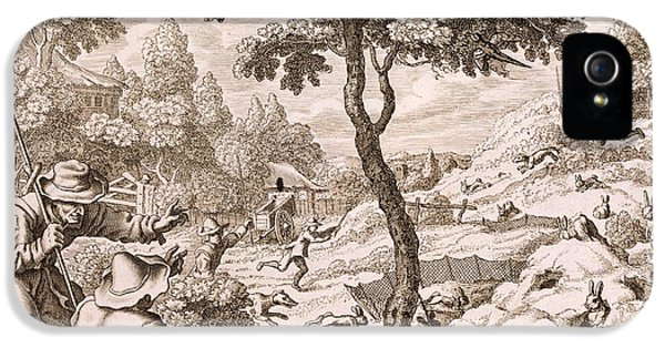 Cony Catching, Engraved By Wenceslaus IPhone 5 Case by Francis Barlow