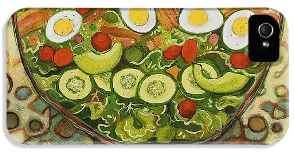 Lettuce iPhone 5 Case - Cool Summer Salad by Jen Norton