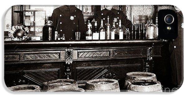 Cops At The Bar IPhone 5 Case by Jon Neidert